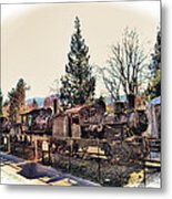 Train Graveyard Metal Print