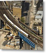 Train In London Metal Print