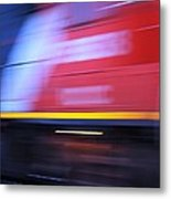 Train In Motion Metal Print