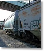 Train In The City Metal Print