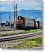 Train In The Mile High Metal Print
