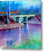 Train Over Sand Creek Metal Print