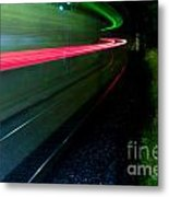 Train Pass By Metal Print