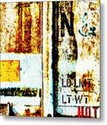 Train Plate 4 Metal Print by April Lee