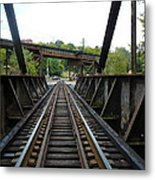 Train Pov Metal Print