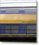 Train Rages Over The Railway Bridge On The Estate Mariendaal In Arnhem Netherlands Metal Print