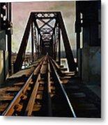 Train Rail Bridge  Metal Print