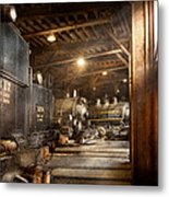 Train - Ready In The Roundhouse Metal Print by Mike Savad