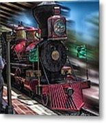 Train Ride Magic Kingdom Metal Print
