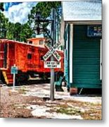 Train Station In Hdr Metal Print