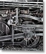 Train - The Wheels Are Turning  Metal Print