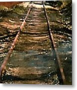 Train Track To Hell Metal Print