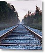 Train Tracks To Nowhere Metal Print