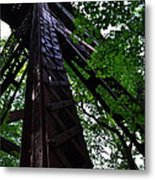 Train Trestle In The Woods Metal Print