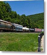 Train Watching At The Horseshoe Curve Altoona Pennsylvania Metal Print
