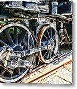 Train Wheels Metal Print