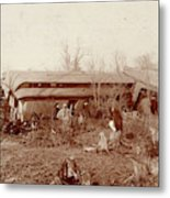 Train Wreck, 1890s Metal Print