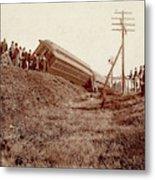 Train Wreck, C1900 Metal Print