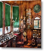 Train - Yard - The Stationmasters Office  Metal Print