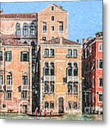Training On The Grand Canal Metal Print