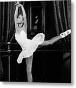 Training Young Ballerina. Metal Print