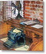 Trains - Station Master's Office Metal Print