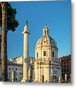 Trajans Column - Rome Metal Print