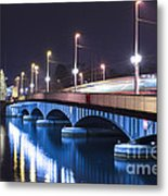 Tram Over A Bridge Metal Print