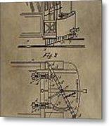 Tramway Fender Patent Metal Print