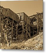 Tramway Headhouse Metal Print