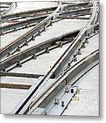 Tramway Track Construction Metal Print