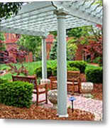 Tranquil Courtyard Metal Print