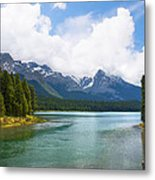 Tranquil Lake In The Canadian Rockies Metal Print