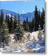 Tranquil Mountain Scene Metal Print