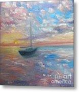 Tranquil Ocean Sunset Metal Print