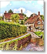 Tranquil Stream Lacock Metal Print