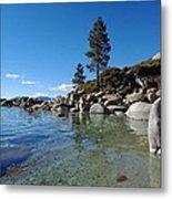 Tranquil Tahoe Beach Metal Print