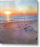 Tranquility Beach Metal Print by Betsy Knapp