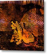 Tranquility Butterfly Collage Art  Metal Print