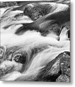 Tranquility In Black And White Metal Print
