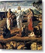 Transfiguration Of Christ 1487 Giovanni Bellini Metal Print
