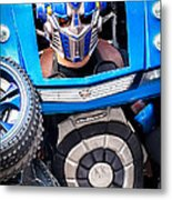 Transformer Man Mime Metal Print
