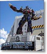Transformers The Ride 3d Universal Studios Metal Print