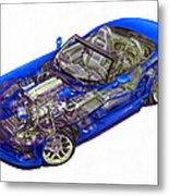 Transparent Car Concept Made In 3d Graphics 1 Metal Print