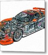 Transparent Car Concept Made In 3d Graphics 10  Metal Print