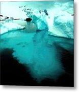 Transparent Iceberg Metal Print