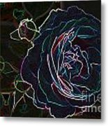 Transparent Rose Metal Print