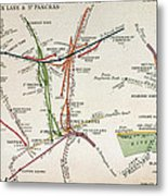 Transport Map Of London Metal Print