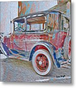 Transportation Grunge Metal Print