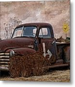 Transportation - Rusted Chevrolet 3100 Pickup Metal Print